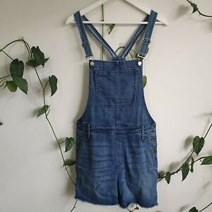 Madewell Mid-Blue Denim Overalls L 100% Cotton Dungarees Classic Casual Pockets