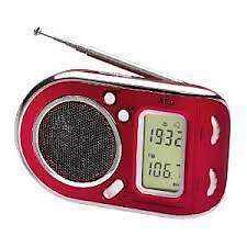 Aeg radio digital We 4125 rojo