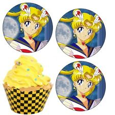 Sailor Moon eßbar Tortenbild NEU Muffinaufleger Deko backen Manga Anime Spiel