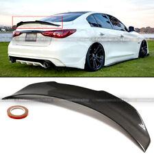 For 14-20 Q50 Carbon Fiber JDM PSM Style High Kick Duckbill Trunk Wing Spoiler