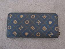 Dooney Bourke Accordian Zip Signature Wallet It Hearts Monogram Blue Brown Bag
