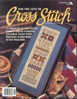 For The Love Of Cross Stitch Magazine Sep 1995 Scarecrow Quilting Sampler Cows