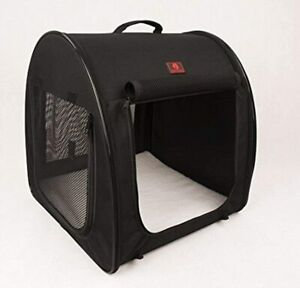 """One for Pets Fabric Portable Pet Kennel/Shelter Single Black 20""""x20""""x19.5"""""""