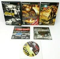 6 PlayStation 2 (PS2) Demo Discs: Mercenaries ; Jak 3 ; Getaway ; Shadow Rome...