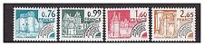 s10907) FRANCE 1980 MNH** Nuovi** Preoblitere Buildings 4v Y&T Y&T 166/69