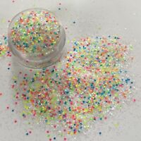 DIAMOND WHITE NEON MIX MULTI COLOUR NAIL ART FESTIVAL FACE BODY GLITTER 10g POT
