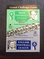 Irish Football League v English Football League 1987 Programme