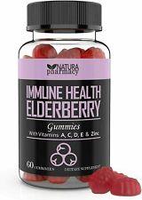 Elderberry Immune Support Gummies, Zinc, Vitamin A, C, D, E, & Zinc