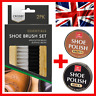 Leather Boot Show Brush Wax Polish Kit Buffing Shine Clean Set Black Brown