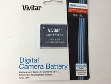 NIB Vivitar Battery Pack For Canon NB-11-L Lithium Ion Rechargeable Battery