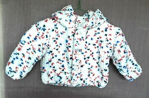 HAND-MADE CHUNKY HOODED JACKET IN FLUTTERBY TO FIT:- 2 TO 3 YRS