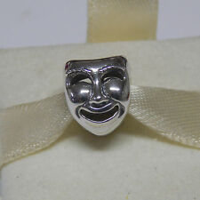 New Authentic Pandora Charm Theater Mask Bead 791177 Box Included