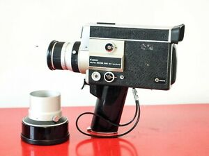 Canon Auto Zoom 518SV Super 8 movie camera + Tele Converter TESTED FREE SHIPPING