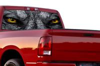 Perforated for Dodge Ram Wolf Eyes Sport Design Rear Window See Thru Vinyl Decal