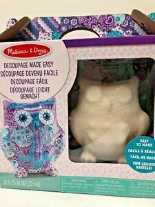 Melissa And Doug Decoupage Made Easy Owl Craft Set age 6+