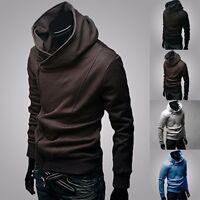 New Fashion Men's Korean Slim Fit Sweater Hoodie Cardigan Jacket Coat Sweatshirt