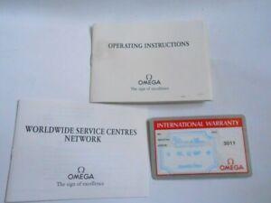 Original Omega Operating Instructions Card Blank