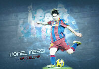 STICKER AUTOCOLLANT POSTER SPORT FOOTBALL MESSI N°10 F.C.BARCELONE.LIGUE 1. N°2.