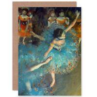 Edgar Degas Dancer Old Master Painting Reproduction Blank Greeting Card