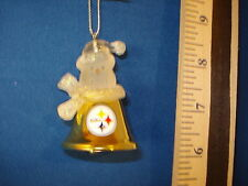 Pittsburg Steelers Ornament Snowman Bell  resin and metal 32124 533