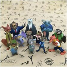 12pcs Movie Zootopia Zootropolis Action Figures Cake Toppers Dolls Kids Toy Gift
