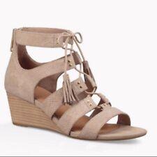 UGG Wedge Lace-up Open Toe Gladiator Yasmin Snake sandals, size 9.5