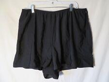 Womens Swim Short Bottoms Black Plus Size 22W Bathing Suit Swimwear With Briefs