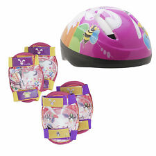 Girls Safety Helmet and Pad Set ideal for Cycling and Scooting ages 5 plus