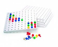 5 Peg boards and 1000 Pegboard Set classroom home school educational Invicta