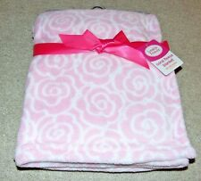 ~NWT Girls LUVABLE FRIENDS Flowers Coral Fleece Blanket Cute FS:)~