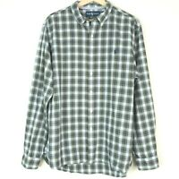Ralph Lauren Slim Fit Button Up Check Mens Shirt Size XL Blue
