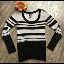⭐️MIX IT⭐️Sexy Fitted Long Sleeve Scoop Neck Striped Sweater | LARGE |
