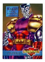 Fleer 1995 Marvel OverPower CCG Mission Fatal Attractions Card #6/7 Colossus