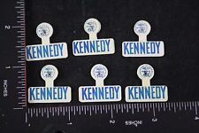 VINTAGE NEW OLD STOCK 1960 JFK PRESIDENT KENNEDY LAPEL PIN LOT 6PC COLLECTION