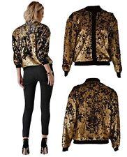 Zip Sequin Casual Coats & Jackets for Women