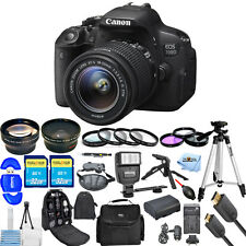 Canon EOS Rebel 700D / T5i DSLR Camera with EF-S 18-55mm Lens!! MEGA KIT NEW!!