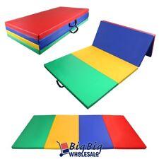 "4 Colors 4'x8'x2"" Folding Gymnastics Mat Workout Exercise Yoga Tumbling PU Panel"