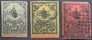 TÜRKEI 3 tadellose gestempelte Marken aus alter Sammlung !