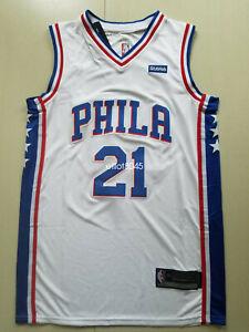 Men's Philadelphia 76ers Joel Embiid #21 White Swingman Jersey