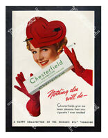 Historic Chesterfield Cigarette's 1939 Advertising Postcard