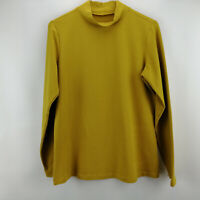 Denim & Co. Perfect Jersey Long Sleeve Mock Neck Top Warm Gold XS A202931