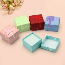 5x Earrings Ring Jewellery Square Bowknot Package Gift Case Boxes Cardboard New