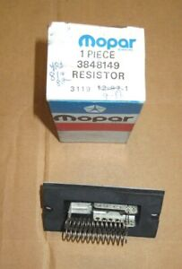 Mopar 3848149 heater resistor 1981 1982 Chrysler LeBaron, Aries, Reliant, NOS