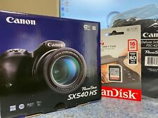 Brand New Canon PowerShot SX540HS Digital Camera Bag and Memory Card Combo