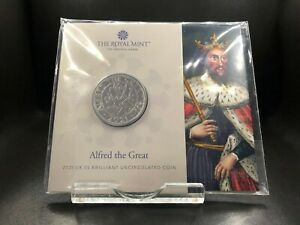 2021 Brilliant Uncirculated Alfred the Great UK £5 Five Pounds
