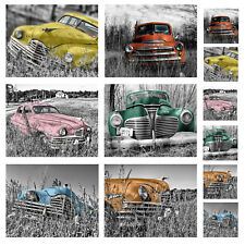 Country Kitchen Cork Backed Placemats AND Coasters RUSTIC RELICS CARS Set 6 NEW