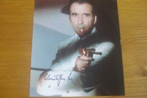 CHRISTOPHER LEE ( JAMES BOND ) SIGNED AUTOGRAPH PHOTOGRAPH SIZE 10X8 WITH C.O.A
