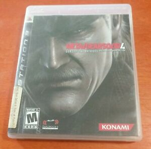 Metal Gear Solid 4 Guns Of The Patriots Sony PlayStation 3 PS3 Konami Dolby