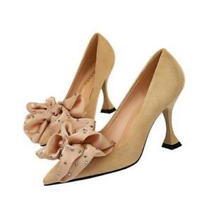 Women Ladies Court Dress Pointy Toe 7cm/8.5cm Stilettos Heel Pumps Shoes 34/40 D