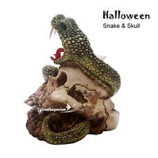 Halloween Aquarium Decorations Fish Tank Ornament Skull Snake Resin Decor Ruins